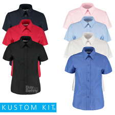 Kustom Kit Ladies' Workwear Oxford Short Sleeve Shirt (KK360)