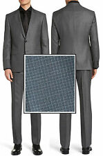NWT Hugo Boss Black Label Trim Fit Check Patterns Super 100 Wool Business Suit