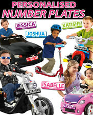 Kids Personalised Number Plate Licence Plate Waterproof Ready To Use