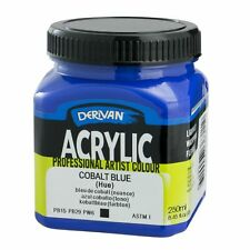 1 x Derivan Artist Acrylic Paint 250ml , in 24 colours
