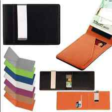Mens Leather Wallet Money Clip Credit Card ID Holder Front Pocket Thin Slim