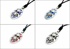 Skull Demon Pewter Silver Pewter Charm Necklace Pendant Jewelry