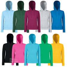 Fruit Of The Loom Lady Fit Hooded Sweat (62038)