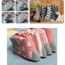4Prs Baby Toddler Boy Girls Kids Soft Cotton Socks Stripe Polka Dot Hosiery 0-3Y