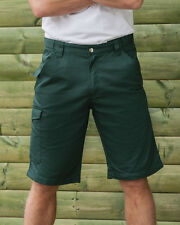 RUSSELL TWILL SHORTS WORKWEAR SHORT TROUSERS POCKETS CARGO DURABLE ALL SIZES NEW