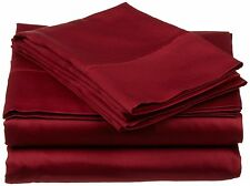 Comfort bedding 1000 TC 100% Egyptian Cotton 6 PC's Sheet Set Burgundy Solid