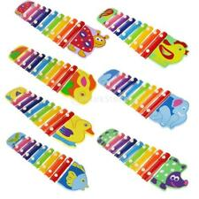 Colorful Wooden Animal Hand Knock Piano Xylophone Educational Kids Play Toy Gift