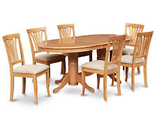 VAAV9-OAK 9 Piece dining room set-Dining table with Leaf & 8 dining room chairs