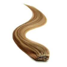American Pride Half Head Clip in Hair Extensions 18 Inch Brownie Blonde  (10/22)