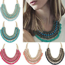 HOT Women Jewelry Choker Crystal Bib Statement Chain Necklace Pendant Chunky