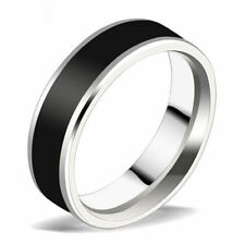 Jewelry Black Titanium Band Stainless Steel Ring For Men Women Size 7-12 CHI