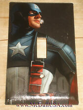 Captain America Light Switch & Power Duplex Outlet Cover Plate