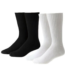 Mens Plain Cotton Rich Soft Sports Pack Of 2 Casual Work Boot 2 Pairs Socks Size