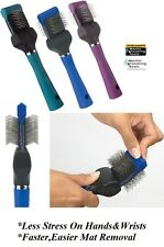 Master Grooming Tools PRO Single Wide FLEXIBLE DOG CAT SLICKER Mat Breaker BRUSH