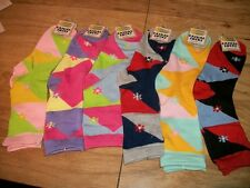 women's multi color casual crew sock size 9-11 shoe size 4-8 gift idea for her