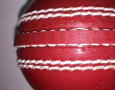 Soft Rubber Cricket Training Ball, Red Colour, Adult & Junior Indoor/Outdoor Cri