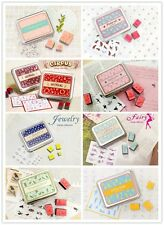 Tin Case DIY Rubber Stamps Set Cute Animals Jewelery Fairy Ballerina CN