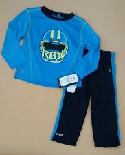 NWT Infant Boy Reebok 2-Pc Shirt & Pants Outfits 24 Mo Football TWINS