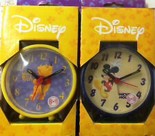 DISNEY MICKEY MOUSE WINNIE THE POOH CHILDREN ALARM CLOCK QUARTZ