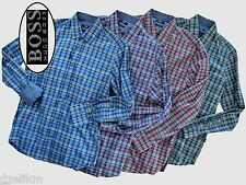 NWT Hugo Boss Black Label By Hugo Boss Checked Regular Fit Sport Shirt