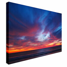 Sunset Over Pacific Ocean, California Canvas Wall Art prints high quality
