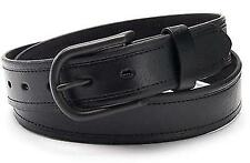 BRAND NEW LEVI'S MEN'S CLASSIC GENUINE LEATHER LOGO BUCKLE BELT BLACK 11LV1290