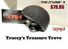 MATT BLACK CRUISER SHORTY HELMET AS1698 APPROVED OPEN FACE SITS LOW LOOKS COOL