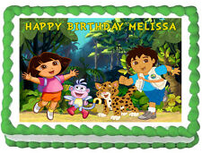 DORA AND DIEGO Image Edible Cake topper decoration