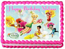 TINKERBELL Birthday Edible image Cake topper decoration