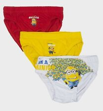 Minions Despicable Me Boys 3-pack Briefs Pants Yellow Bello! 2/3 4/5 Years