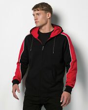 MEN'S FORMULA RACING CLUBMAN HOODED TOP HOODIE SWEATSHIRT ZIPPED CONTRAST SLEEVE