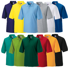 Russell MEN'S POLO SHIRT SOFT FEEL CLASSIC WORKWEAR SPORTS COLOURS SIZES XS-6XL