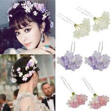 2PC Flower Wedding Bridesmaids Bridal Hair Pins Clip Flower Pin Headpiece