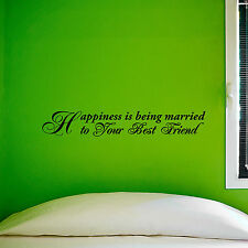 HAPPINESS IS BEING MARRIED TO - Vinyl Wall Art Decals