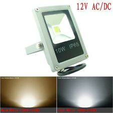 12V 10W LED Floodlight Waterproof White Warm Outdoor Garden Flood Light Gray AU