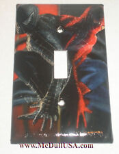 Black & Red Spider-Man Spiderman Light Switch & Power Duplex Outlet Cover Plate