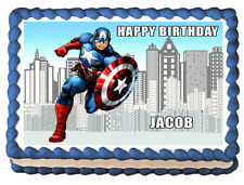 CAPTAIN AMERICA Image Edible Cake topper decoration