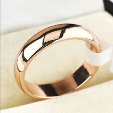 Fashion Jewelry Black Titanium Band Stainless Steel Ring For Men Women 5 SIZE CH