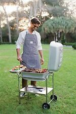 Portable Kitchen Charcoal Grill & BBQ Smoker w/ Free Cooking Apron