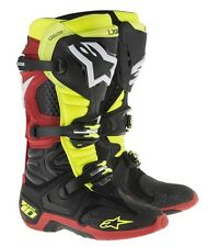 Alpinestars TECH 10 Boot BLACK/RED/NEON Professional Motocross Racing MX Offroad