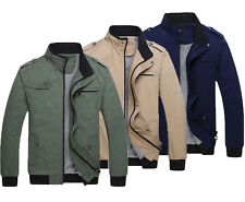 NEW Mens Casual Outwear Handsome Jacket winter Slim Fit Cotton Coat