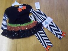 NWT Rare Editions Black & White TUTU TOP & LEGGINGS 3-6 / 6-9 / 12 / 18 mo OR 3T