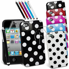 POLKA DOT GEL CASE SILICONE CASE COVER FOR IPHONE 4 4S 4G