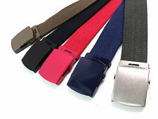 """Womens Ladies Mens Retro Quality Cotton Canvas belt Strong fits upto size 22 52"""""""
