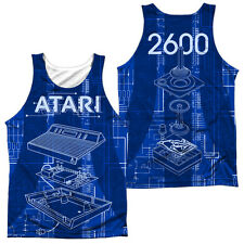 ATARI INSIDE OUT Sublimation Men's Graphic Tank Top Sleeveless Tee SM-3XL