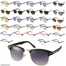 Men's Women's Clear Lens Clubmaster BROWLINE Sunglasses Fashion UV400 Retro 80's