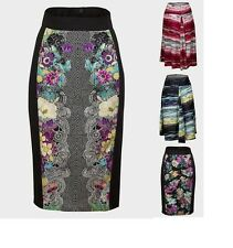 Ladies Womens Floral Pencil Skirt , A-line Knee Length Figure Fit Cotton Skirts
