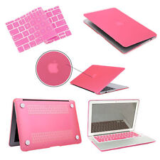 """Macbook Air/Pro/Retina 11""""12""""13""""15"""" PINK Rubberized Hard Case +Keyboard Cover"""