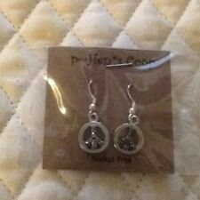 Peace Symbol Earrings Various Styles Handmade USA Artist Retro silver copper