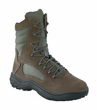 Reebok Womens Sage Green Suede Nylon Tactical Boots Fusion Max Soft Toe